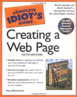 the complete idiot s guide to creating a website complete idiot s rh amazon co uk Idiots Guide to Grant Writing Idiot's Guide Blank