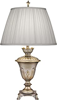 product image for Stiffel TL-N8469-MS One Light Table Lamp, Milano Silver Finish with Ivory Shadow Box Shade