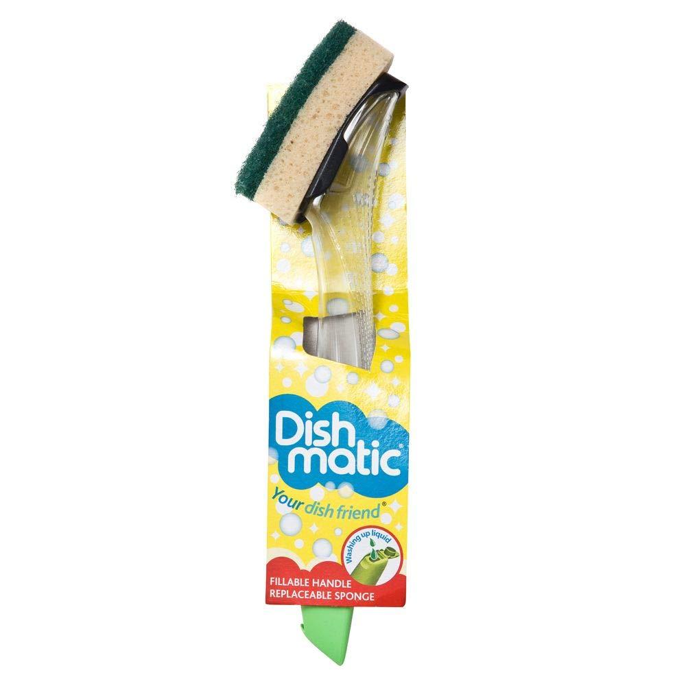 The Dishmatic Washing Up Brush plus Heavy Duty Sponge Caraselle 012191 Dishmatic