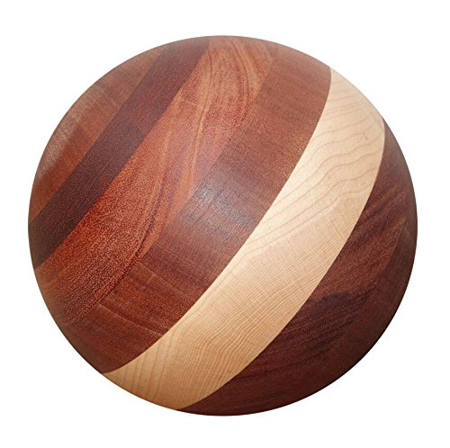 Tai Chi Ball - SATURN (YMAA Artisan series) 7 inches, 4-5 lbs, mixed wood. Use with Tai Chi DVD. by YMAA