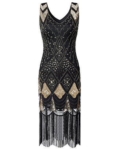 Women Flapper Dress 1920s Vintage - Double V