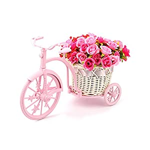 Louis Garden Nostalgic Bicycle Artificial Flower Decor Plant Stand (Pink) 38