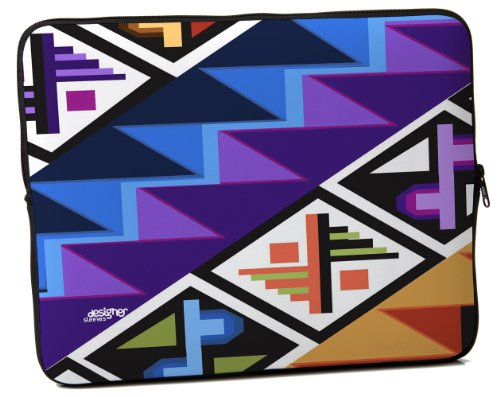 Designer Sleeves Tropical Textile Sleeve for 13-Inch Laptop, Purple (13DS-TT)