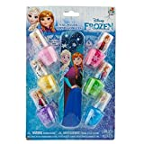 Townley Girl Disney Frozen Best Peel-Off Nail Polish Set for Kids, 6 pack of different colors with file