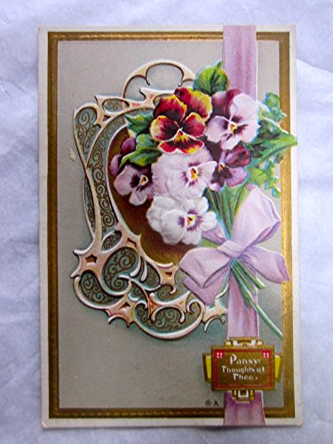 Vintage Postcard: 1910 Pansy Thoughts of Thee, Language of Flowers Series No. 5