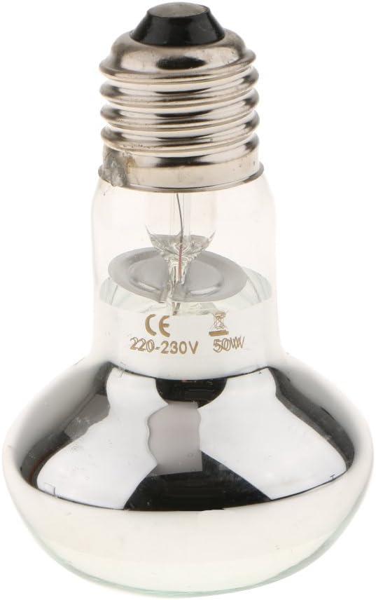 E27 perfk 3pcs Reptile Heaingt Lamp Bulb Lightbulb UVA Spot Light for Lizard Snake Beared Dragon Amphibian Vivarium 50W