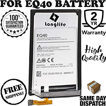 LONGLIFE New Replacement Battery for EQ40 Moto Droid Turbo XT1254 Maxx XT1225 XT1250 Batería de repuesto