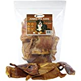 Raw Paws All Natural Jumbo Pig Ears for Dogs, 12 Pack - Big Pork Dog Chews - Single Ingredient, Whole, Baked, Large Pig Ear Dog Treats for a Healthy Rawhide Alternative and Improved Dog Dental Health
