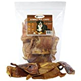 Raw Paws Pet Premium Jumbo Pig Ears for Dogs, 12-count - All-Natural Dog Chew Treats