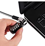 KGear Combination Lock Security Cable- 4-dial password, theft deterrent, for Laptops, Desktops, Type C docking station, Projectors.