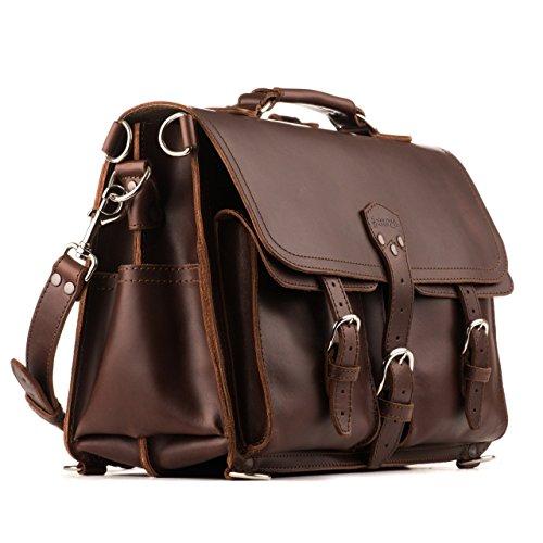 (Saddleback Leather Co. Front Pocket Full Grain Leather Travel Briefcase Bag for Men Includes 100 Year)