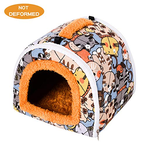 Guinea Pig bed Hamster Guinea Pig Hideout Guinea Pig Soft Warm House Cavy Cave for Guinea Pigs Chinchilla Washable Hamster Bedding