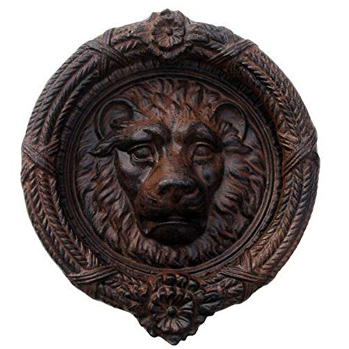 (Kaidee Antique Vintage Lion Head Door Knocker Style Cast Iron Hardware Brown)