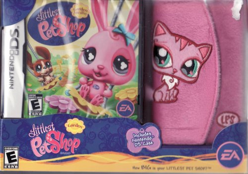 Littlest Pet Shop Garden Jardin for Nintendo DS LIMITED EDITION Set Includes: Game & Fuzzy DS Case