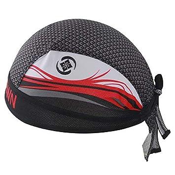 HYSENM Fashion Men Cycling Bandana Cap Sun UV Protection Sports Headwear Under Helmet Quick Dry Breathable Dust Proof, H-1