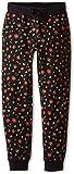 Dolce & Gabbana Kids Girl's Back to School Floral Sweatpants (Big Kids) Black/Rose Print 12 Big Kids X One Size