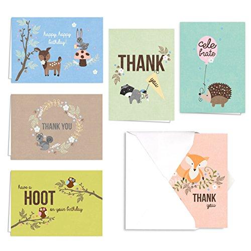 Woodland Animals Birthday Thank Assortment product image