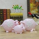 BWLZSP 1 set (3) Chinese living room living room TV cabinet bedroom animal adornment ornament Desktop display LU613541 (Color : Pink)