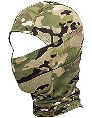 JIUSY Camouflage Balaclava Hood Ninja Outdoor Cycling Motorcycle Hunting Military Tactical Helmet Liner Gear Full Face Mask SP-04