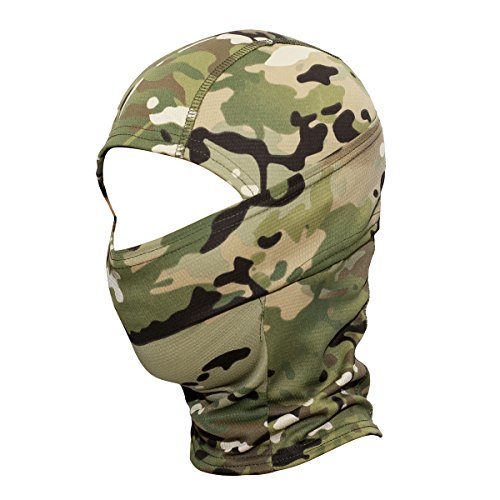 Tactical Hood - JIUSY Camouflage Balaclava Hood Ninja Outdoor Cycling Motorcycle Hunting Military Tactical Helmet liner Gear Full Face Mask SP-04