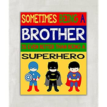 Amazon.com: Being a Big Brother is Better Than Being a Superhero ...