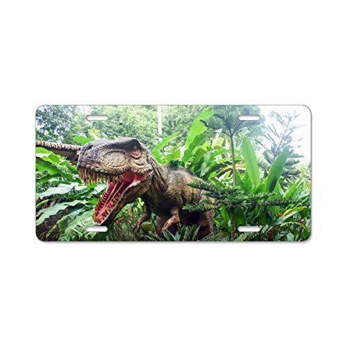 Khope Singapore Zoo Dinosaur License Plate Frame Funny Novelty License Plate Cover Holder -