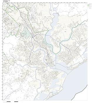Amazon.com: ZIP Code Wall Map of Charleston, SC ZIP Code Map ... on