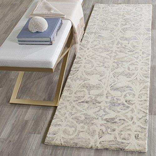Safavieh Chatham Collection CHT765E Handmade Light Grey and Ivory Premium Wool Runner (2'3 x 7′)