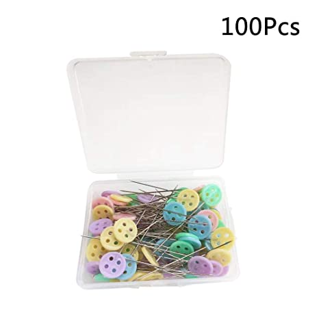 Pincushions - 100 alfileres de cabeza recta decorativos, para ...