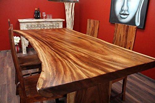 Esstisch, Suar, Holz, Massiv, Tisch, Tischplatte, Natur