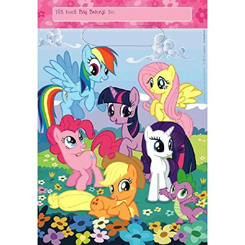 Amscan My Little Pony Loot Bags, 24 Treat (Little Pony Treat)