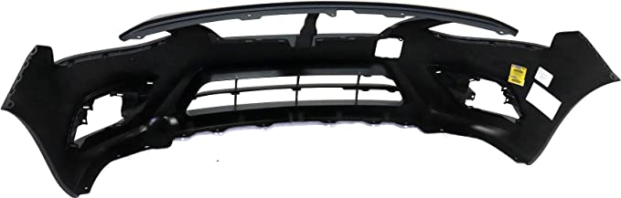 Front Bumper Cover Compatible with NISSAN VERSA 2015-2018 Primed with Chrome Insert