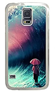 Brian114 Samsung Galaxy S5 Case, S5 Case - Fashion Crystal Clear Hard Case for Samsung Galaxy S5 Cross Over Together 2 Waterproof Back Hard Case for Samsung Galaxy S5 I9600