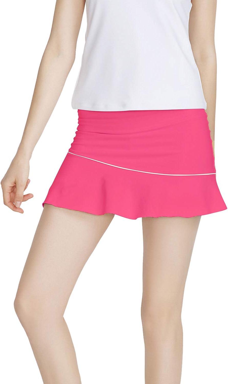Meja Falda de Tenis de Mujer Elástica de Secado Rápido Activo Performance, Pantalones Cortos para Correr Golf Casual Falda