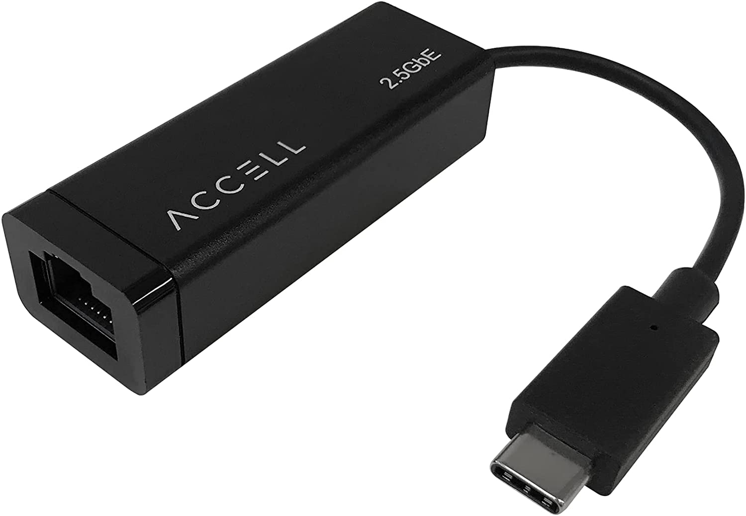 Accell USB-C to 2.5G Ethernet Adapter - USB Type C to RJ45 2.5Gbps high Speed LAN Converter, Compatible with Microsoft Office, MacBook, Thunderbolt 3, USB 3. 0