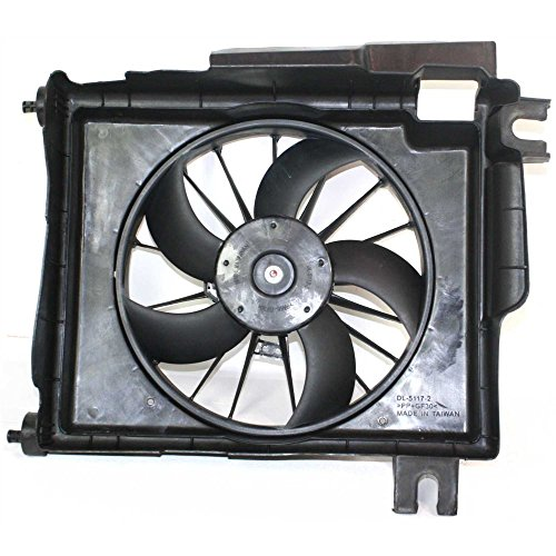A/C Fan Shroud Assembly for Dodge Full Size P/U 02-08 W/Wire Harness 5 Blades Gas (04-07 3500) A/c Condenser Fan Shroud Assembly