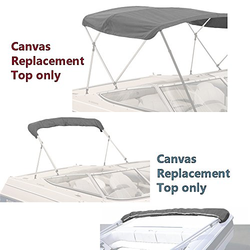 SavvyCraft Bimini TOP Boat Cover Canvas Fabric Gray 4 Bow 96