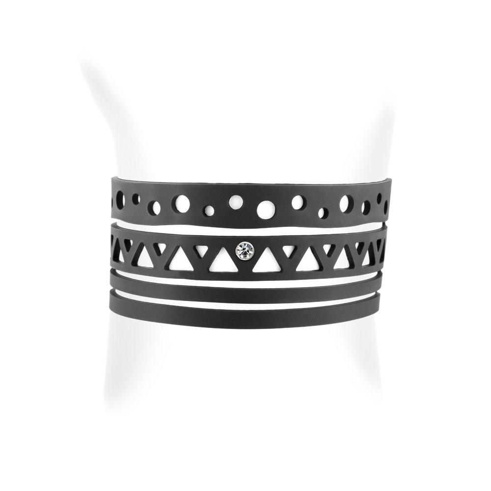 Pulsera Etnico de la goma silicona Negra efecto tatuaje - LAD 0116 ...