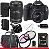 Canon EOS Rebel T3i 18 MP CMOS Digital SLR Camera and DIGIC 4 Imaging with EF-S 18-55mm f/3.5-5.6 IS Lens and Canon EF-S 55-250mm f/4.0-5.6 IS 16GB Package