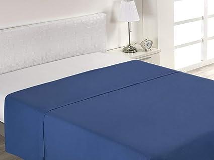 Imagen deSABANALIA - Sábana Encimera Combina (Disponible en Varios tamaños y Colores), Cama 160-160 x 200, Azul