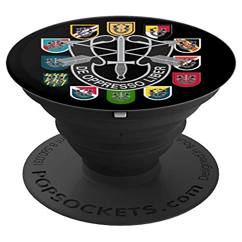 Special Pedestal - Army Special Forces Groups Green Beret Patch Flashes PopSockets Grip and Stand for Phones and Tablets