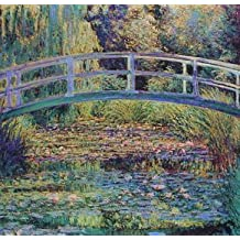 16X20 inch Claude Monet Canvas Print Bridge over the sea rose Pond 2