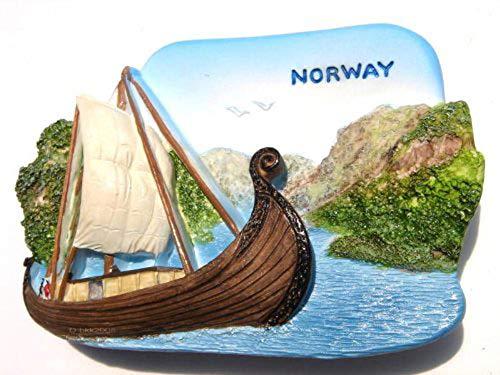 Oseberg Ship Viking Ship Oslo Norway, High Quality Resin 3d Fridge Magnet