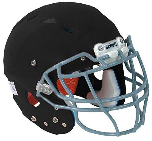 Vengeance DCT Hybrid Football Helmet without Faceguard (Matte Black, XX-Small) ()