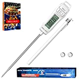 Meat Thermometers Cooking Food Thermometers Digital Instant Read Thermometer, WELL BUY Kitchen Thermometers Instant Read Cooking Thermometer with 5.9'' Probe for BBQ Grill Smoker Meat Fry Food Milk