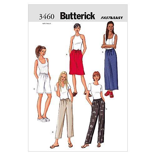Butterick B3460 Misses'/ Misses' Petite Skirt, Shorts & P...