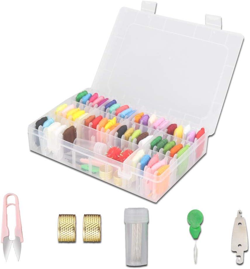Kit de hilos de bordado Kits de costura: con 5 herramientas de ...