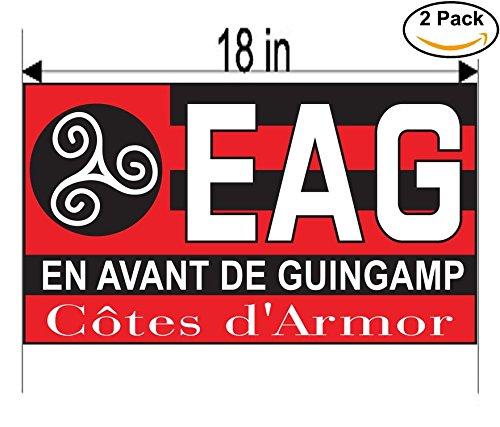 fan products of En Avant de Guingamp France Soccer Football Club FC 2 Stickers Car Bumper Window Sticker Decal Huge 18 inches