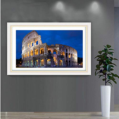 5D Diamond Painting Kit Full Drill Square/Round Cross Stitch Craft Supplies Rome Colosseum DIY Mosaic Embroidery Home Decoration Landscape Painting by Atongham (Image #1)