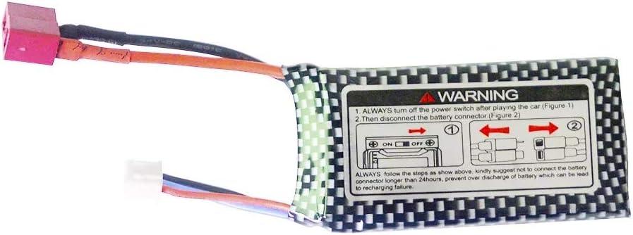 AKDSteel Batterie de 7.4v 1600mAh Lipo pour Xin-LEHONG 9125 télécommande télécommande pièces de Rechange de Voiture 9125 Batterie Accessoire Batterie 1pc Battery 1pc